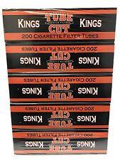 Gambler Tube Cut Orange Regular King Size RYO Cigarette Tubes 5 Boxes 1000 Tubes