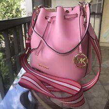 Michael Kors Women Leather Crossbody Bag Shoulder Messenger Purse Handbag Pink