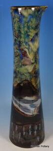 Anita Harris Art Pottery Stoneware Japanese Misty Mountains Kasumi Chimney Vase