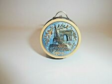 Peint Main Limoges Trinket-A Memory Of Paris