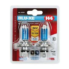 2 Ampoules Verre Bleu  Blu-Xe H4 24v 70/75W Poids Lourd