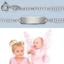 Baby Taufe Armkette Armband 14 cm mit Gravur von Name Datum Echt Silber 925