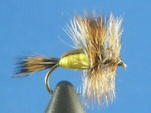 1 dozen Humpy Yellow #14, Dry Flies, Trout, NR!