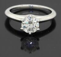 Tiffany & Co. Platinum 0.99CT VS1/H diamond solitaire wedding ring size 5.25