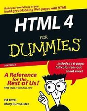 HTML 4 For Dummies, 5th Edition, Ed Tittel, Mary Burmeister, 0764589172, Book, G
