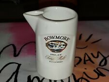 Bowmore Islay Single Malt Scotch Whisky Vintage Barware Pitcher Pub Jug