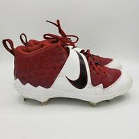 Nike Force Air Trout 6 Pro Size 10.5 Red/White Baseball Cleats