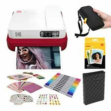 KODAK Smile Classic Digital Instant Camera with Bluetooth (Red) Stickers Bundle