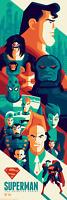 Bottleneck Superman Animated Series Poster Whalen Limited Screenprint Mondo