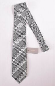 Tom Ford NWT Neck Tie In White & Black Exploded Houndstooth Plaid 100% Silk