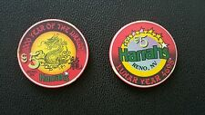 harrahs reno chinese new year of the dragon $5 casino chip unc