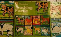 Vintage Waddingtons Teaching Jigsaw Puzzle Animal Families 1980