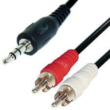 Audio Kabel 15m 3,5mm Klinke auf 2 Cinch Stecker Klinken Adapter stereo