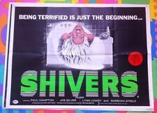 SHIVERS - ORIGINAL UK CINEMA QUAD POSTER they came from within parasite murders