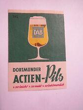 Dortmunder Aktien Brauerei - DAB - Bier Dortmund / Streichholzetikett