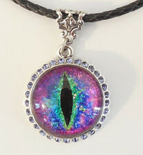 NEW KIRKS FOLLY PROTECTED BY DRAGON'S EYE GLITTER CORDED NECKLACE ST