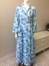 Original Vintage 50s  Dressing Gown Robe, Floral House Coat,Pinup Rockabilly