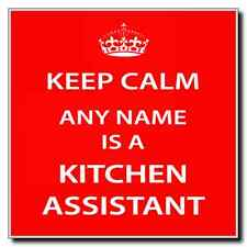 Kitchen Assistant Personalised Keep Calm Coaster