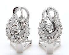 .50 Carat Natural Diamonds in 14K Solid White Gold Women Earrings