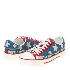 RRP €2415 VALENTINO GARAVANI Beaded Sneakers Size 39 UK 5 US 6 American Flag