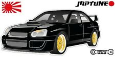 Subaru WRX Impreza   - Black with Gold Rims - JDM - JapTune Brand