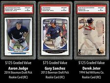 $325 Aaron Judge/Derek Jeter/Gary Sanchez Topps 1ST GRADED 10 ROOKIE CARD RC LOT