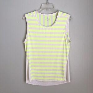 Athleta Medium Yellow White Striped Sleeveless Athletic Top