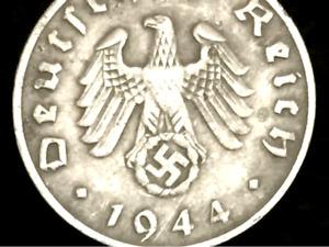 Rare Old WWII German War Coin One Reichspfennig 1944 D-Day World War 2 Artifact