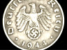 Rare Old WWII German War Coin One Reichspfennig 1944 D-Day World War 2 Artifact