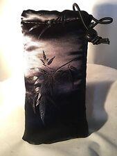 "Vatra 8"" Padded string bag. Black Satin Water  hookah pipe Glass vape"