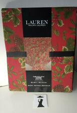 LAUREN Ralph Lauren OBLONG Christmas Tablecloth BIRCHMONT RED HOLLY SEATS 6-8
