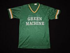 RARE Vintage 70s 80s Green Machine Jersey Nylon T-shirt USA Made Sport Athletic