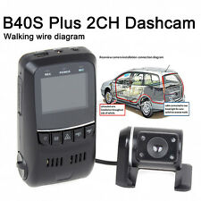 B40S Plus Dual Lens Capacitor Hd 1080p Rotatable Car Dash Camera Gps Wdr Gsensor