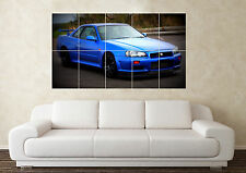 Large Nissan Skyline R34 Turbo R32 R33 RB Car Wall Poster Art Picture Print