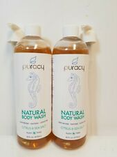 2pk Puracy Natural Baby Tear Free Gentle Shampoo&Body Wash Citrus Grove 16oz eac