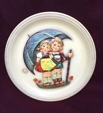 """Vintage Hummel 1st Edition Anniversary Plate with Box 1975 - """"Stormy Weather"""""""