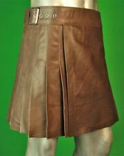 WRAP AROUND LEATHER MINI KILT FOR MEN AND WOMEN | Made To Measure