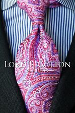 Lord R Colton Studio Tie - Glacier Pink & Blue Tapestry Necktie - $95 Retail New