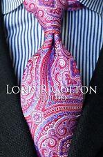 Lord R Colton Studio Tie - Glacier Pink & Blue Tapestry Necktie - $95 Retail New