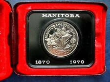 1970 Canada Manitoba Commemorative Cased Specimen Dollar - Prooflike