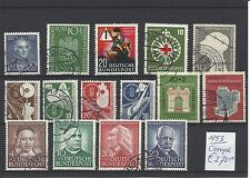 BUNDESPOST @  YEAR 1953 COMPLETE  FINE USED € 270.00 @ GERM.66