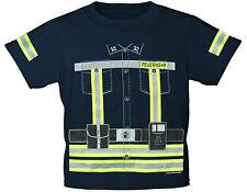 Kinder T-Shirt Feuerwehr 86 - 164 Brust-u. Rueckendruck reflektierend 12701
