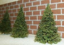 MODEL RAILROAD PINE TREES 9 piece set  // Great for HO scale