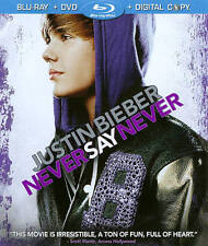 Justin Bieber: Never Say Never (Blu-ray/DVD, 2011, 2-Disc Set, Includes Digital