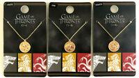 HBO Game of Thrones Kette mit Anhänger Halskette Schmuck Goldfarben GoT Symbole