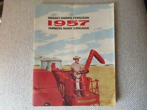 1957 Massey Harris Ferguson farmers catalog brochure MH50 333 444 35 555 tractor