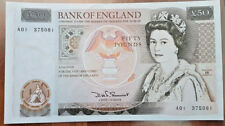 1981 £50 FIFTY POUNDS BANKNOTE PREFIX A01 VERY HIGH GRADE aEF/EF