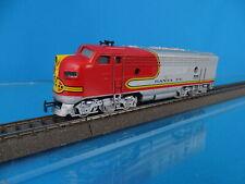 Marklin 3060 US F7 Diesel Locomotive Santa Fe Red-Silver 80-ies OVP