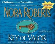 "NEW - Key Trilogy: ""Key of Valor"" 3 by Nora Roberts (2005, CD, Abridged)"