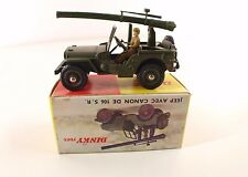 Dinky Toys F n° 829 Jeep Willys canon de 106 SR en boîte avec rabat revendeur